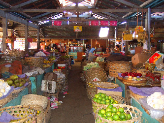 Shopping in a local market before the cooking lesson