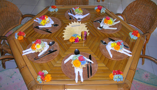 Table Setting in our restaurant Warung Bambu Pemaron